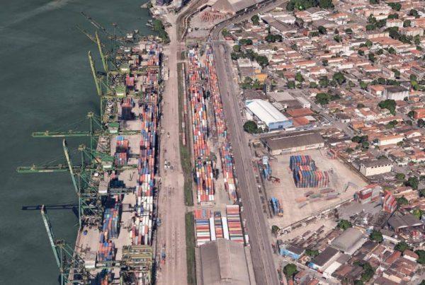 Projeto de infraestrutura urbana e projetos prediais implementados em terminal portuário